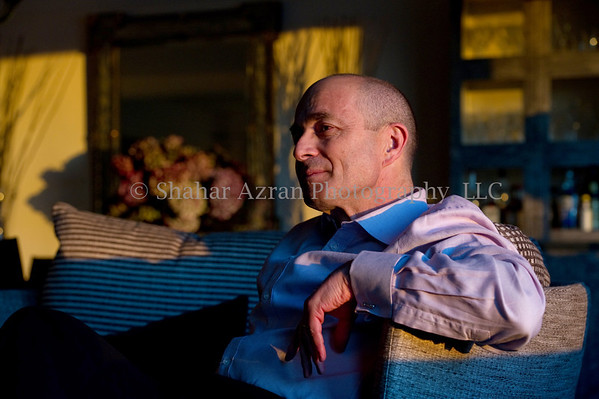 TEVA CEO Jeremy Levin at his home in New York.<br /> Photo credit: Shahar Azran<br /> <br /> Rights: For ONE TIME use only in ASAKIM magazine on January 2012. Not for any additional use unless a written permission granted by Shahar Azran Photography, LLC and for an additional fee. Copyright: Shahar Azran Photography, LLC.