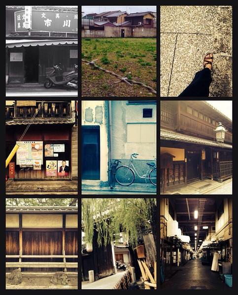 File No.59<br /> <br /> そして、歩く。<br /> <br /> 台風が沖縄に近づいてるらしい10月初め。すでに人気ない午後市場をノラ猫のようにチョイチョイっと通り抜け、島原界隈へ。路地にはかつての花街の重厚な日本家屋を再利用したカフェや、白粉が漂ってきそうな昭和な銭湯があったり。観光客らしきカメラ男のそばを、いじわるばあさんのように髪を結った、いかにも置屋のお母さん風な痩せたおばあさんが、でも眼光まだまだ衰えず、自転車で通り過ぎる。チョット、タイムスリップ&異空間。<br /> <br /> 自転車もいいけど、やっぱり足で見て歩くっていいな。