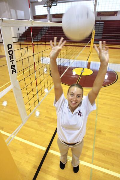 Amanda Craig varsity volleyball player at St. Elizabeth High School. The Dialog/Don Blake
