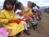 El Chile primary school students eat food donated by US Aid.  El Chile has and elaborate history of beautiful gift giving and sad dependency.  One day I might write it out here.