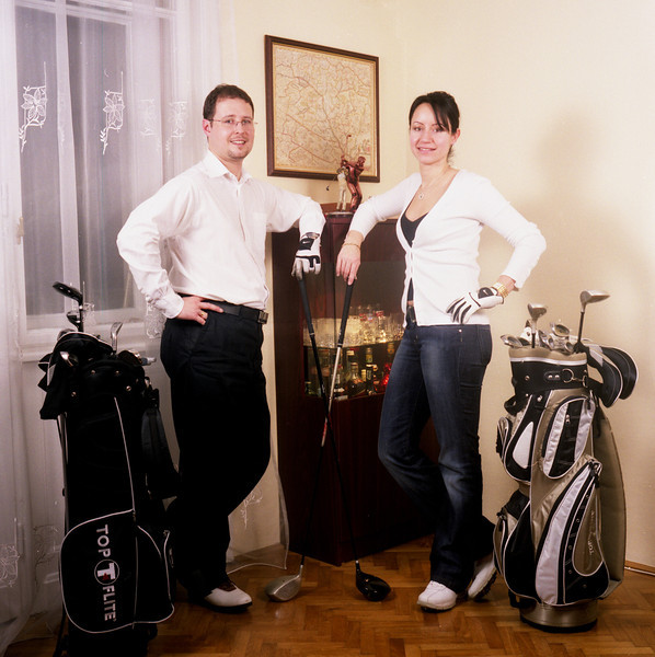 Andras and Roni golf lovers