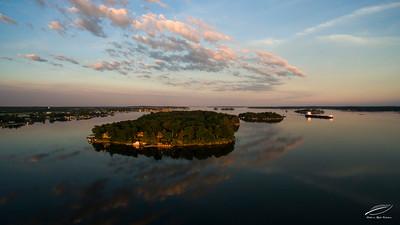 Round & Little Round Islands at Sunrise
