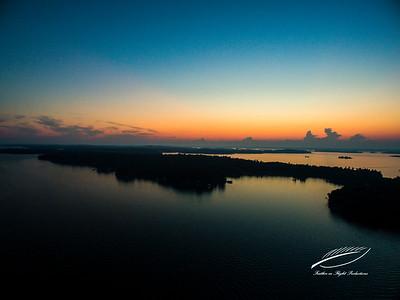 Sunset Beyond Murray Island