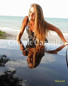 Tori  --  Victoria Chadsey   --  the Black Chevy SSR - Anna Maria Island - April 18, 2009