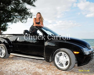 Tori  --  Victoria Chadsey   --  the Black Chevy SSR - Anna Maria Island - April 18, 2009