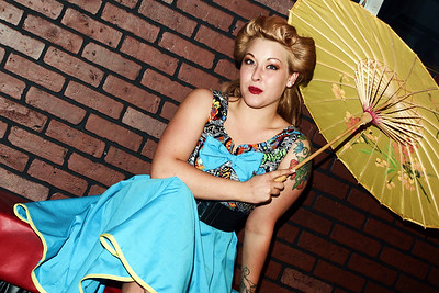 Model and clothing fashion photography for Trucha Gear and Krabby Gurl pinup clothing in Tempe, Arizona.