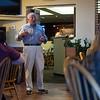 8/22/16 FITCHBURG--Slattery's owner Dave addresses scholarship recipients on Monday inside Slattery's restaraunt in Fitchburg.  Sentinel & Enterprise photo/Jeff Porter