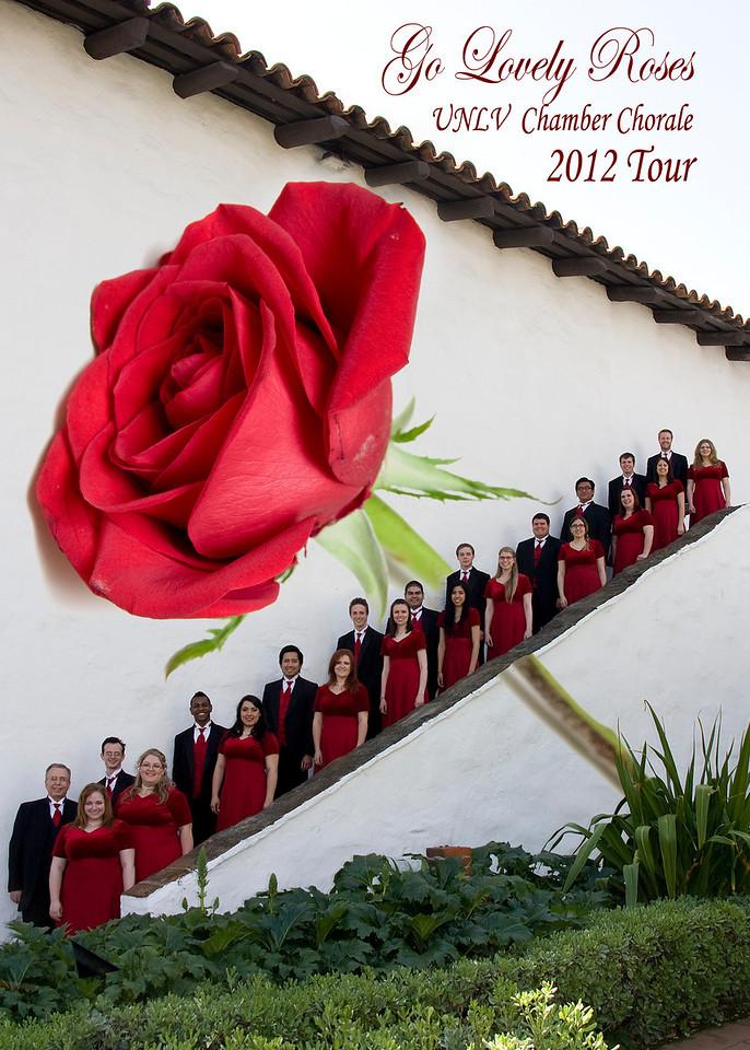 University of Nevada Las Vegas (UNLV) Chamber Chorale.  2011-2012 tour.  Mission Basilica San Diego.<br /> Director David B. Weiller.