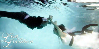Lisa is one of the few photographers in the area to offer underwater photography