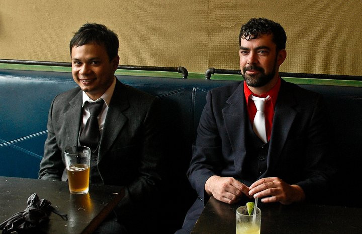 Men in pub, New York, NY, 2010.