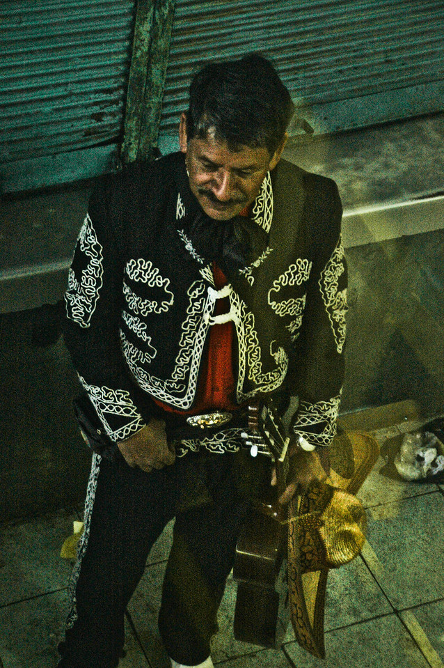 Mariachi on the street, Santiago, Chile, 2010.