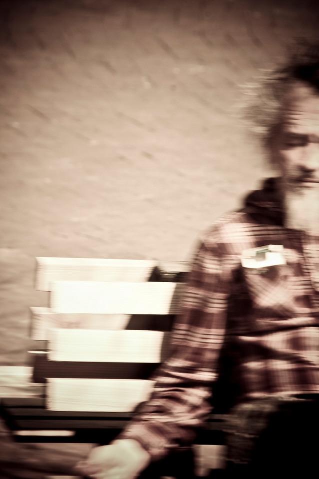 Man at the park, New York City, 2010