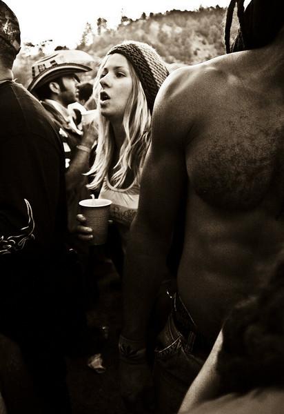 Woman at reggae concert, Humbolt, California, 2007.