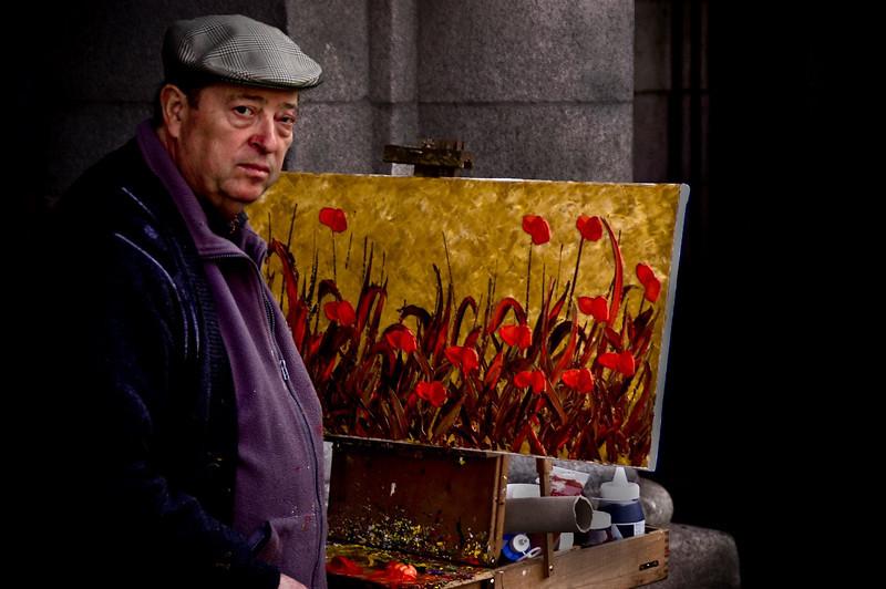 Painter, Madrid, Spain, 2007.