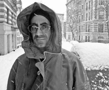 Mattes während eines Harlem Schneefall