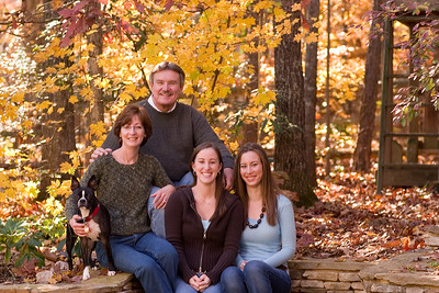 Paul & Cindy Waldo Family, fall in thier backyard