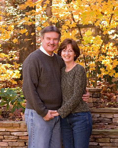 Paul & Cindy Waldo Family, fall in thier backyard