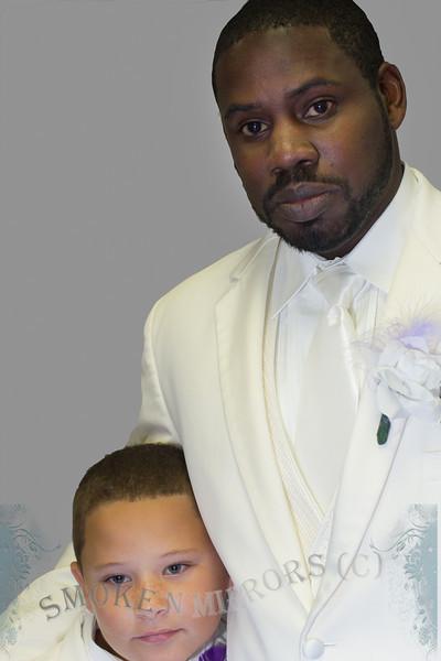 Grey Background Groom Son