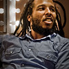 Ziggy Marley preparing for a show, Santa Barbara, California, 2010.