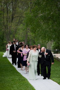 The parents of the bride, just before entering the reception