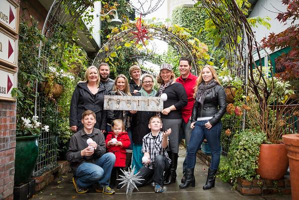 Jamie's Family Christmas portraits 2014