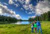 Stefi, Niki & Dad Camping on Grand Mesa