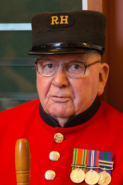 A Chelsea Pensioner at a Chelsea Wedding