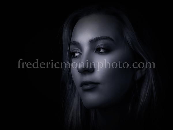 Portrait of Hannah in B/W