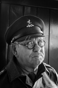 Captain Mainwaring lookalike, 1940s event