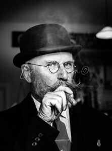 Gentleman With Cigar, 1940's Style