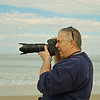 John photographing at the New Jersey Shore