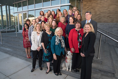Fairfield University Nursing Faculty (including Dakota the service dog)
