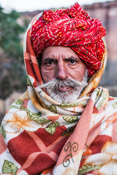 An old man from village Jaipura in Rajasthan, India