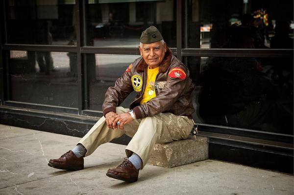 Marine Veteran from Dallas Veteran's Day Parade