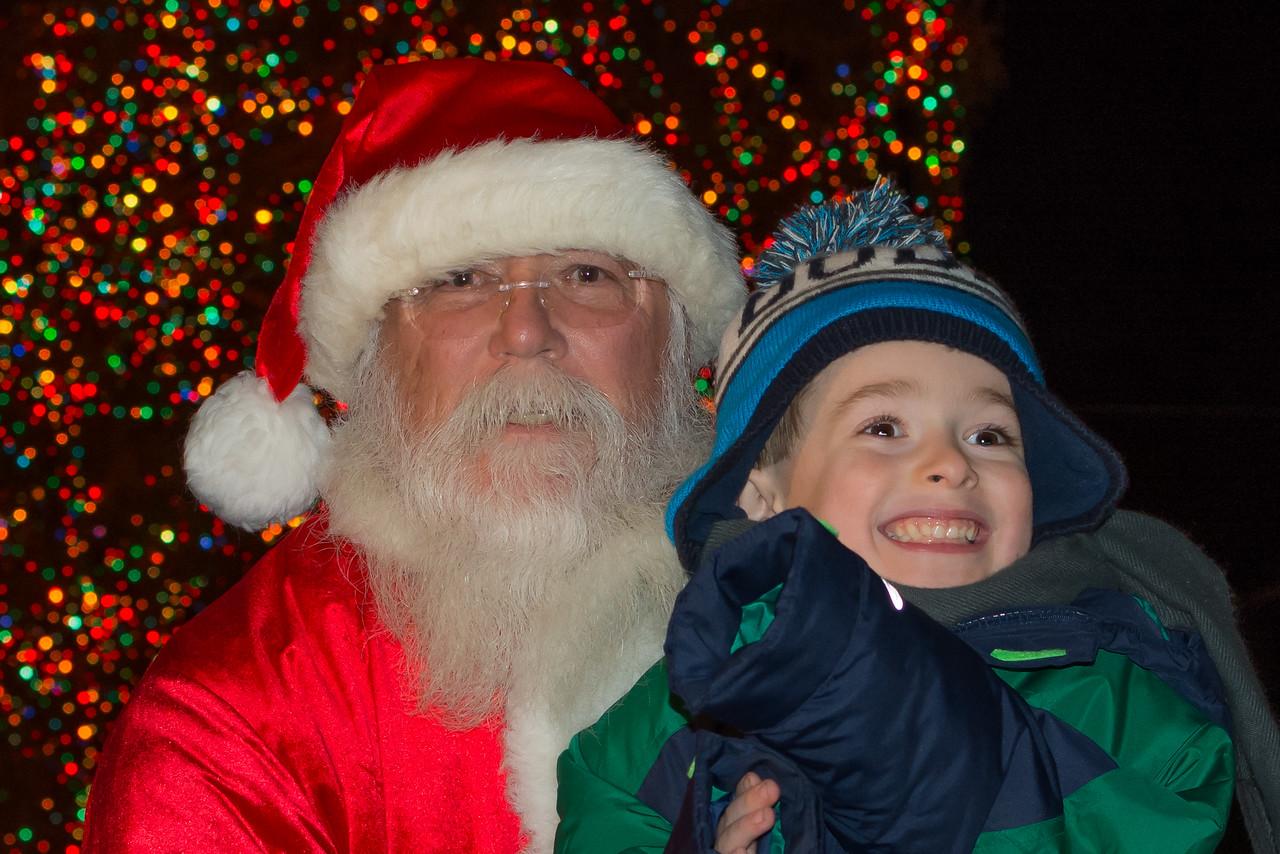 Santa and customer