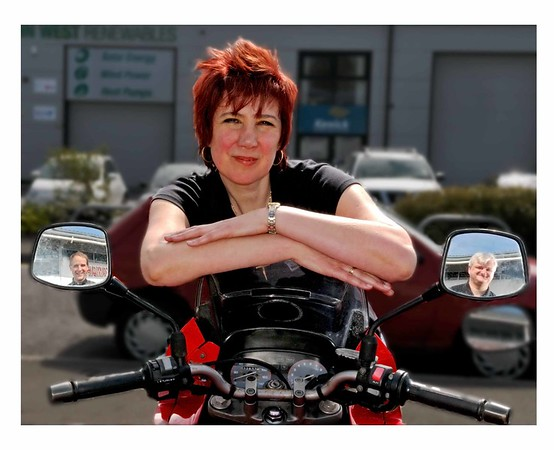 Chairlady of Advanced Institute of Motorcyclists plus deputies in wings