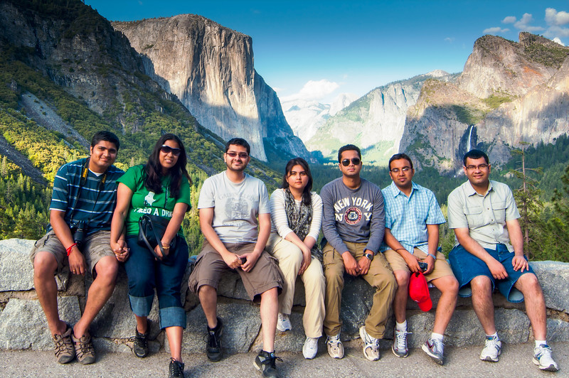 Group Portrait at Yosemite National Park