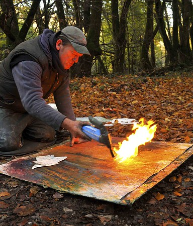 Stewart Edmondson fiery Dartmoor artist