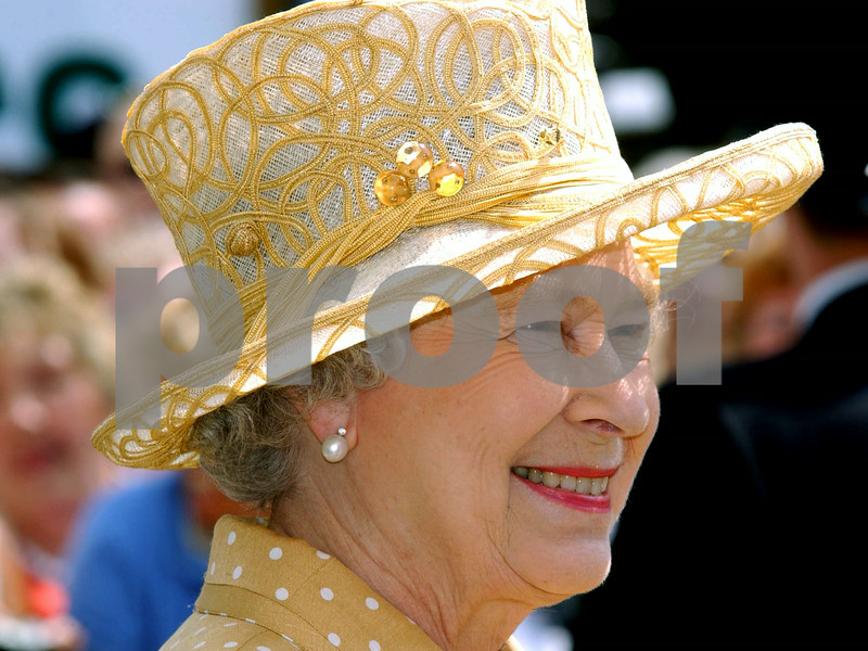 The Queen's Golden Jubilee<br /> <br /> HM The Queen on a visit to Uxbridge in London<br /> <br /> <br /> Picture by Jeff Jones