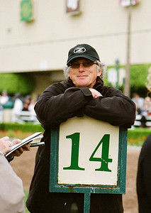 John Shirreffs watches Zenyatta in the paddock at Hollywood Park, Dec. 5, 2010.