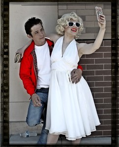 James and Marilyn taking a Selfie