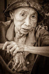 Touching portrait of an old local lady.