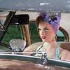 pin up girl with 1940s car