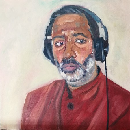 Nihal Arthanayake. Created as part of the Sky Arts Portrait Artist of the Week competition.