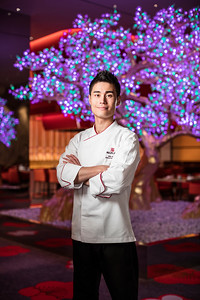 Mizumi executive chef Min Kim poses at Wynn palace  Macau