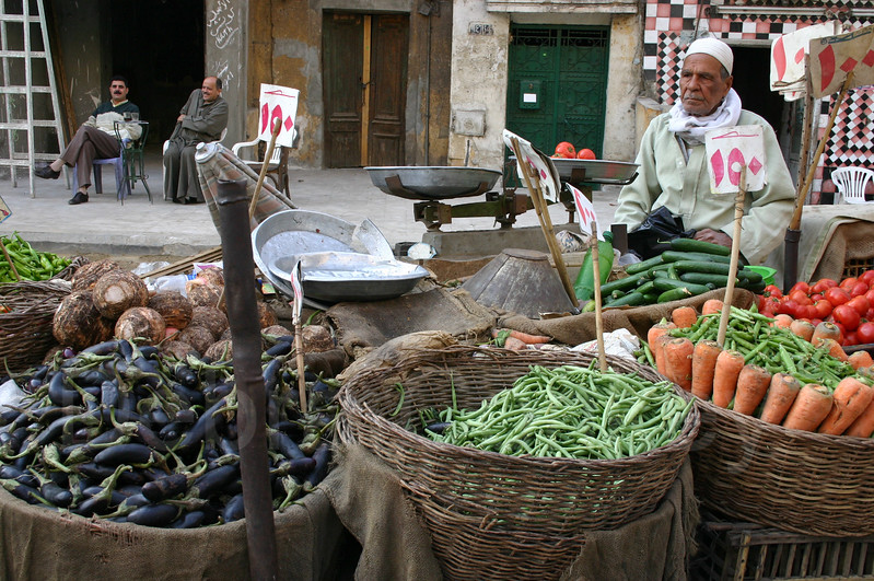 Vegetable vendor, Cairo,  Egypt