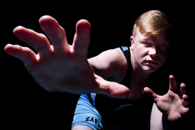 Cheyenne East wrestler Bradley Whitwright is the WyoSports Cheyenne Prep Athlete of the Week Tuesday, March 3, 2020 at the Cheyenne East Wrestling Room. Whitwright won the 220-pound state championship in Casper. Nadav Soroker/Wyoming Tribune Eagle