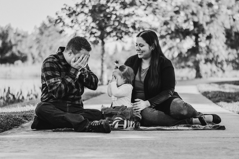 Candid Black and White Family Portraits