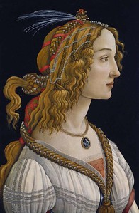 The inspiration for SILVER BEAUTY is this painting by Sandro Botticelli   (1445-1510)