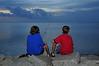 Boys fishing at sundown<br /> Outer Banks, NC